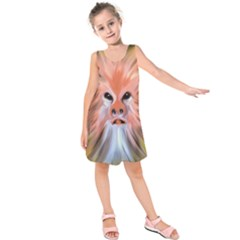 Abstract Decoration Decorative Kids  Sleeveless Dress