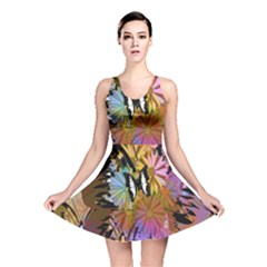 Abstract Digital Art     Reversible Skater Dress