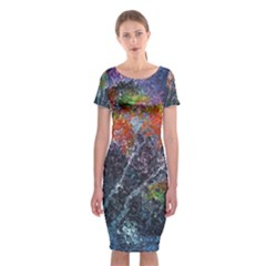 Abstract Digital Art Classic Short Sleeve Midi Dress