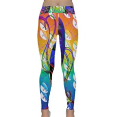 Abstract Mask Artwork Digital Art     Classic Yoga Leggings