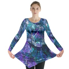 Abstract Ship Water Scape Ocean Long Sleeve Tunic