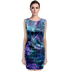 Abstract Ship Water Scape Ocean Classic Sleeveless Midi Dress
