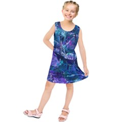 Abstract Ship Water Scape Ocean Kids  Tunic Dress
