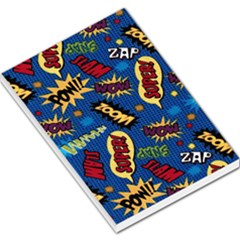 Fabric Comic Words Large Memo Pads