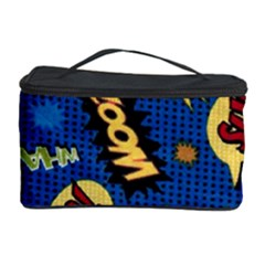 Fabric Comic Words Cosmetic Storage Case