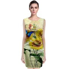 Backdrop Colorful Butterfly  Classic Sleeveless Midi Dress