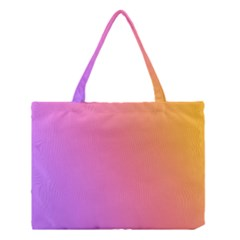 Blank Desk Pink Yellow Purple Medium Tote Bag