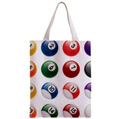 Billiards Zipper Classic Tote Bag