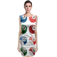 Billiards Classic Sleeveless Midi Dress