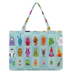 Animals Monster Music Medium Zipper Tote Bag