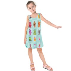 Animals Monster Music Kids  Sleeveless Dress