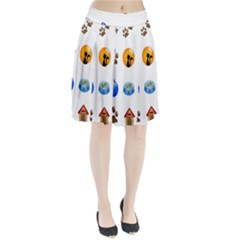 Cat Mouse Dog Pleated Skirt