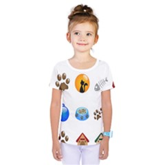 Cat Mouse Dog Kids  One Piece Tee