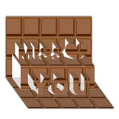 Chocolate Miss You 3D Greeting Card (7x5)