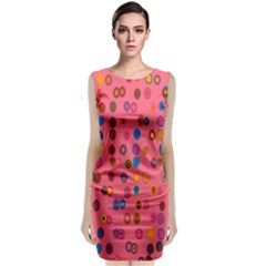 Circles Abstract Circle Colors Classic Sleeveless Midi Dress