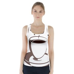 Coffee Beans Racer Back Sports Top