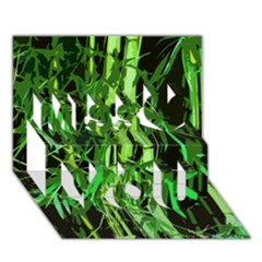 Bamboo Pattern Tree Miss You 3D Greeting Card (7x5)