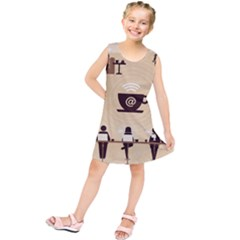 Coffee Ofice Work Commmerce Kids  Tunic Dress