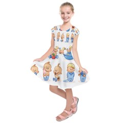 Cute Baby Picture Funny Kids  Short Sleeve Dress