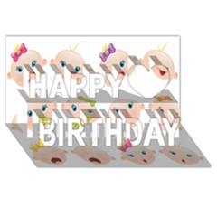 Cute Baby Picture Happy Birthday 3d Greeting Card (8x4)