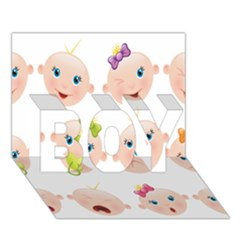 Cute Baby Picture Boy 3d Greeting Card (7x5)