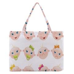 Cute Baby Picture Medium Zipper Tote Bag