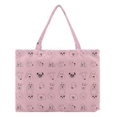 Dog Pink Medium Tote Bag