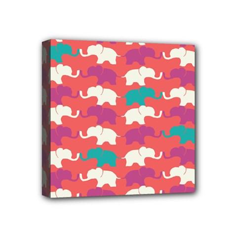Elephant Mini Canvas 4  X 4