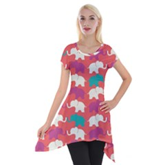 Elephant Short Sleeve Side Drop Tunic