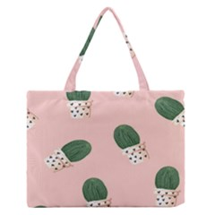 Flower Pot Medium Zipper Tote Bag