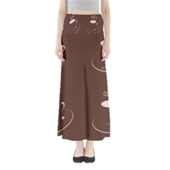 Four Coffee Cups Maxi Skirts