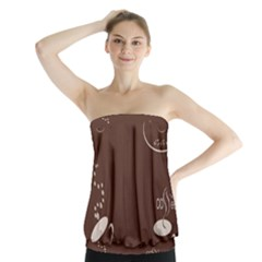 Four Coffee Cups Strapless Top