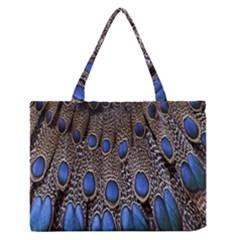 Feathers Peacock Light Medium Zipper Tote Bag