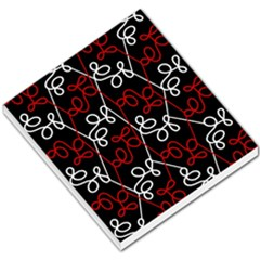 Elegant red and white pattern Small Memo Pads
