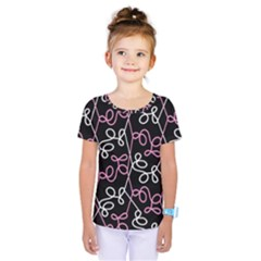 Elegance   Pink Kids  One Piece Tee