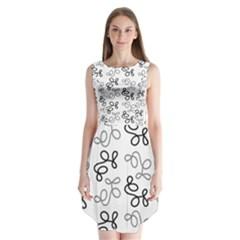 Gray Elegance  Sleeveless Chiffon Dress