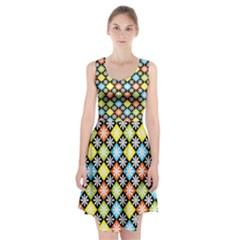 Diamonds Argyle Pattern Racerback Midi Dress