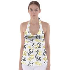 Yellow Elegance Babydoll Tankini Top