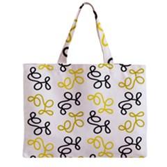 Yellow Elegance Medium Zipper Tote Bag