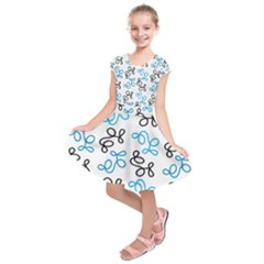 Blue elegance  Kids  Short Sleeve Dress