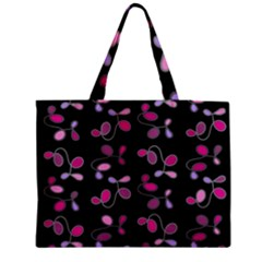 Magenta Garden Medium Zipper Tote Bag