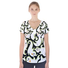 Ghosts Small Phantom Stock Short Sleeve Front Detail Top
