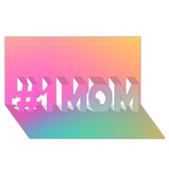 Pink Blue #1 Mom 3d Greeting Cards (8x4)
