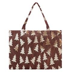 Gold Tree Background Medium Zipper Tote Bag