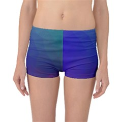 Polyart Dark Blue Purple Pattern Boyleg Bikini Bottoms