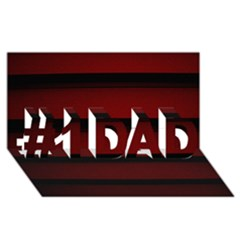 Line Red Black #1 Dad 3d Greeting Card (8x4)