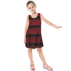 Line Red Black Kids  Sleeveless Dress