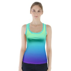 Purple Blue Green Racer Back Sports Top