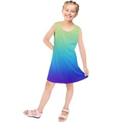Purple Blue Green Kids  Tunic Dress