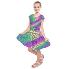 Line Colour Wiggles Kids  Short Sleeve Dress